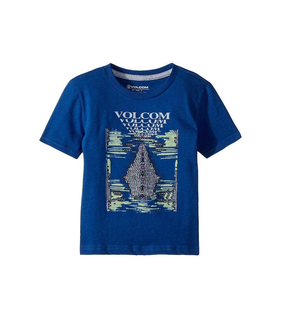 Volcom Kids - Digi Pool Short Sleeve Tee (Toddler/Little Kid) (Camper Blue) Boys T Shirt