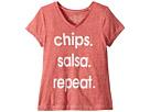 The Original Retro Brand Kids Chips Salsa Repeat Tri-Blend T-Shirt (Big Kids)