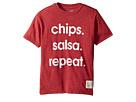 The Original Retro Brand Kids Chips Salsa Repeat Short Sleeve Heather Tee (Big Kids)