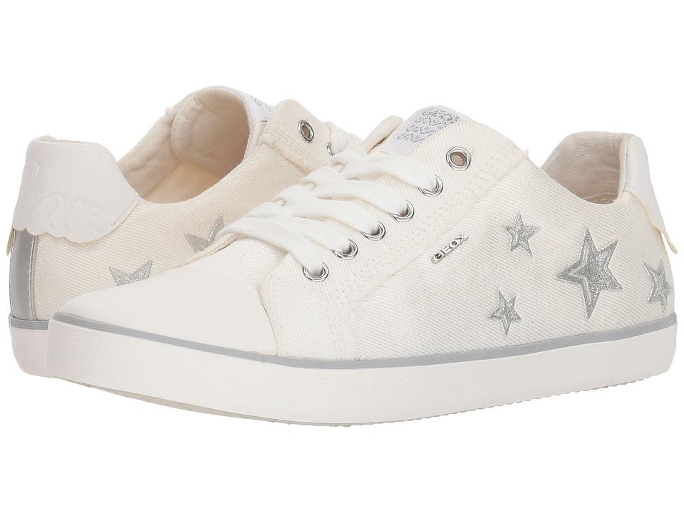 Geox Kids - Kilwi 14 (Big Kid) (White) Girls Shoes