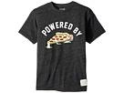 The Original Retro Brand Kids Powered By Pizza Short Sleeve Tri-Blend T-Shirt (Big Kids)