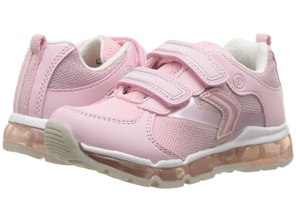 Geox Kids - Android 15 (Toddler/Little Kid) (Pink/White) Girls Shoes