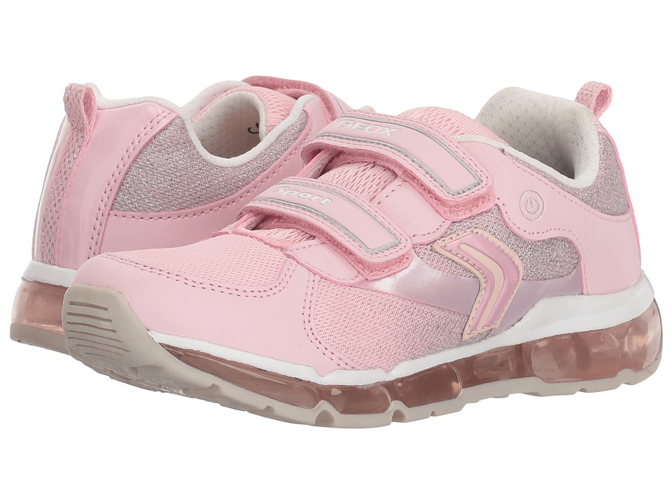 Geox Kids - Android 15 (Little Kid/Big Kid) (Pink/White) Girls Shoes