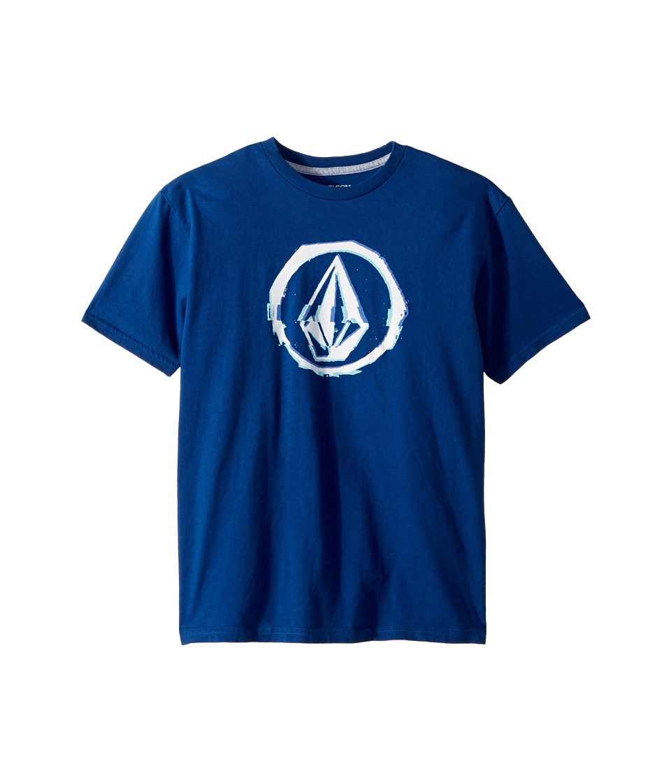 Volcom Kids - Glitchy Short Sleeve Tee (Big Kids) (Camper Blue) Boys T Shirt