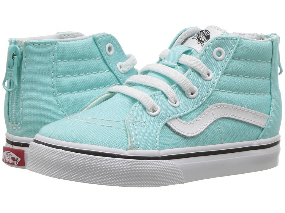 Vans Kids Sk8-Hi Zip (Toddler) (Island Paradise/True White) Girls Shoes