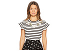 Kate Spade New York Embroidered Ruffle T-Shirt