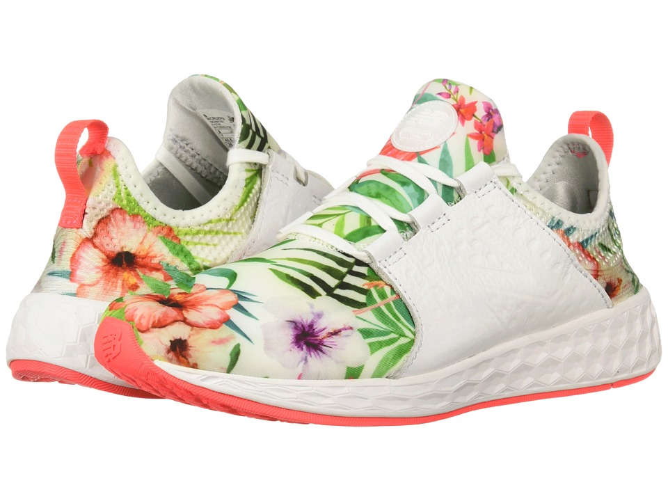 New Balance Fresh Foam Cruz v1 (White Munsell/Vivid Coral) Women's Running Shoes