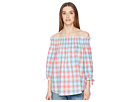 Kate Spade New York Madras Off the Shoulder Top