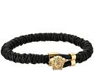 Versace Leather Medusa Bracelet