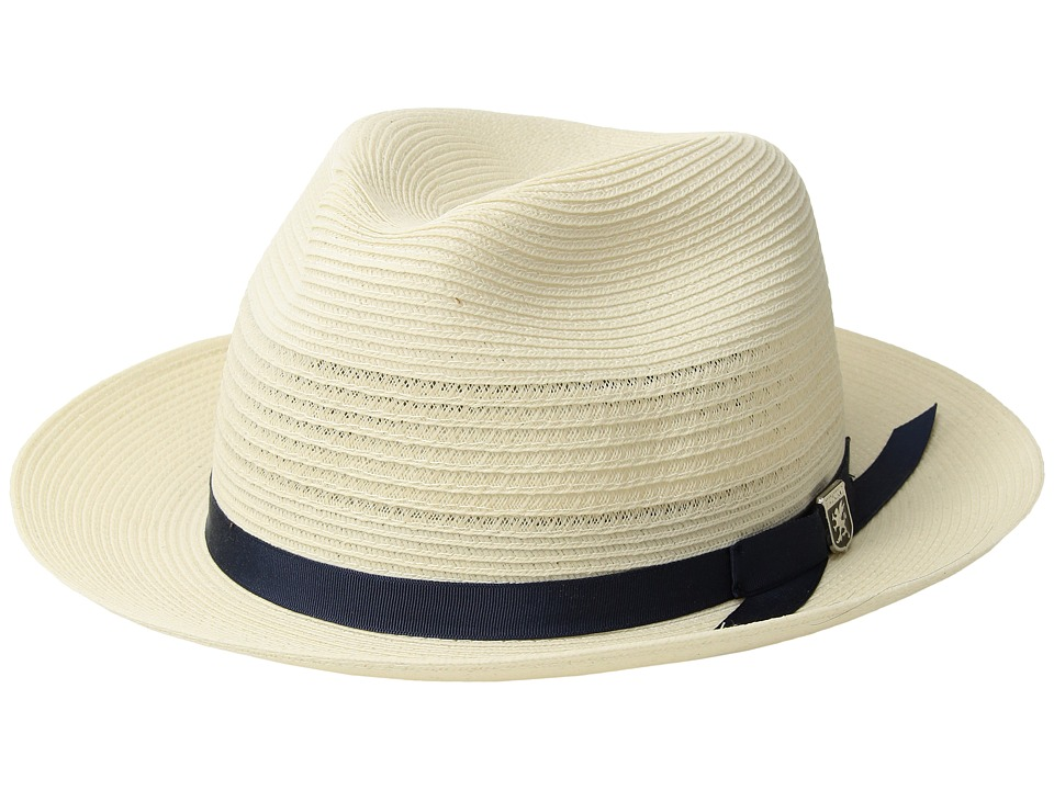 Stacy Adams Vented Poly Braid Fedora (Ivory) Caps