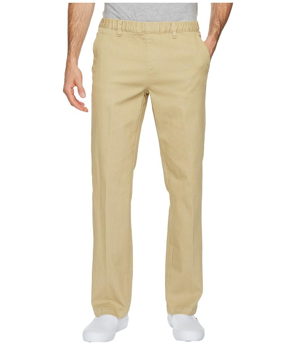NBZ(r) - Khaki Elastic Waist Casual Dress Pants (Khaki) Mens Casual Pants