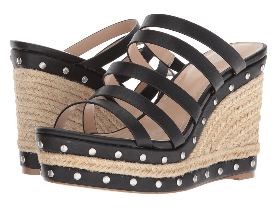 Charles by Charles David - Loyal (Black Smooth) Womens Wedge Shoes