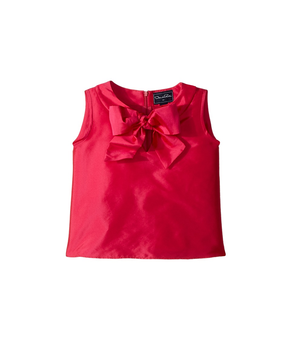 Oscar de la Renta Childrenswear - Taffeta Sleeveless Bow Blouse (Toddler/Little Kids/Big Kids) (Fuchsia) Girls Blouse