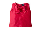 Oscar de la Renta Childrenswear Taffeta Sleeveless Bow Blouse (Toddler/Little Kids/Big Kids)