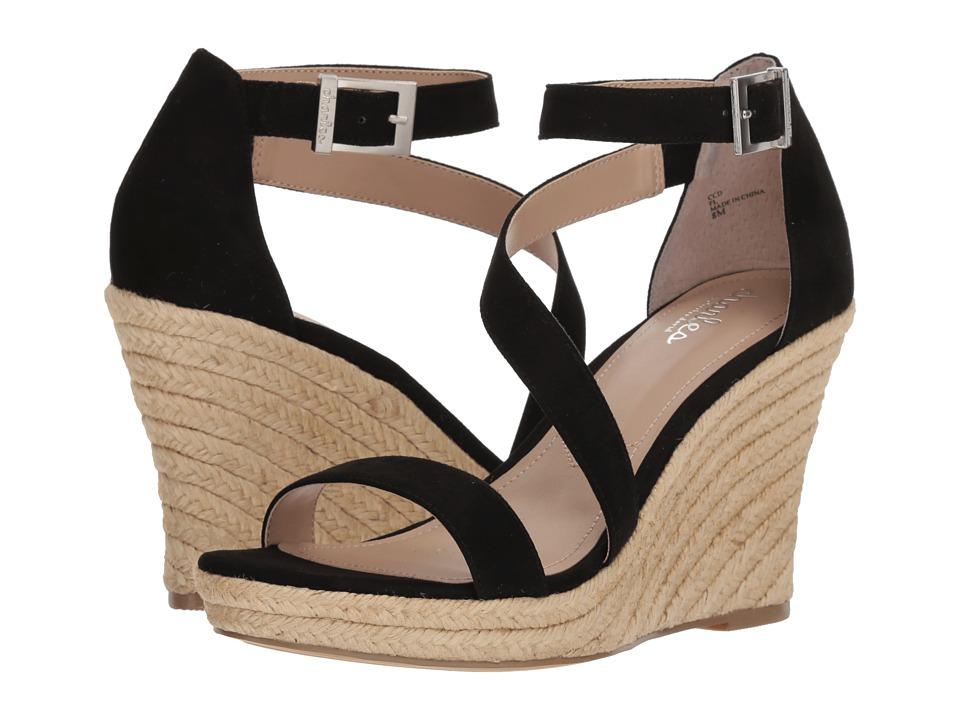 Charles by Charles David - Lou (Black Microsuede) Womens Wedge Shoes