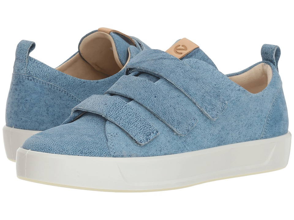 ECCO Soft 8 Strap Sneaker (Indigo #5) Slip-On Shoes