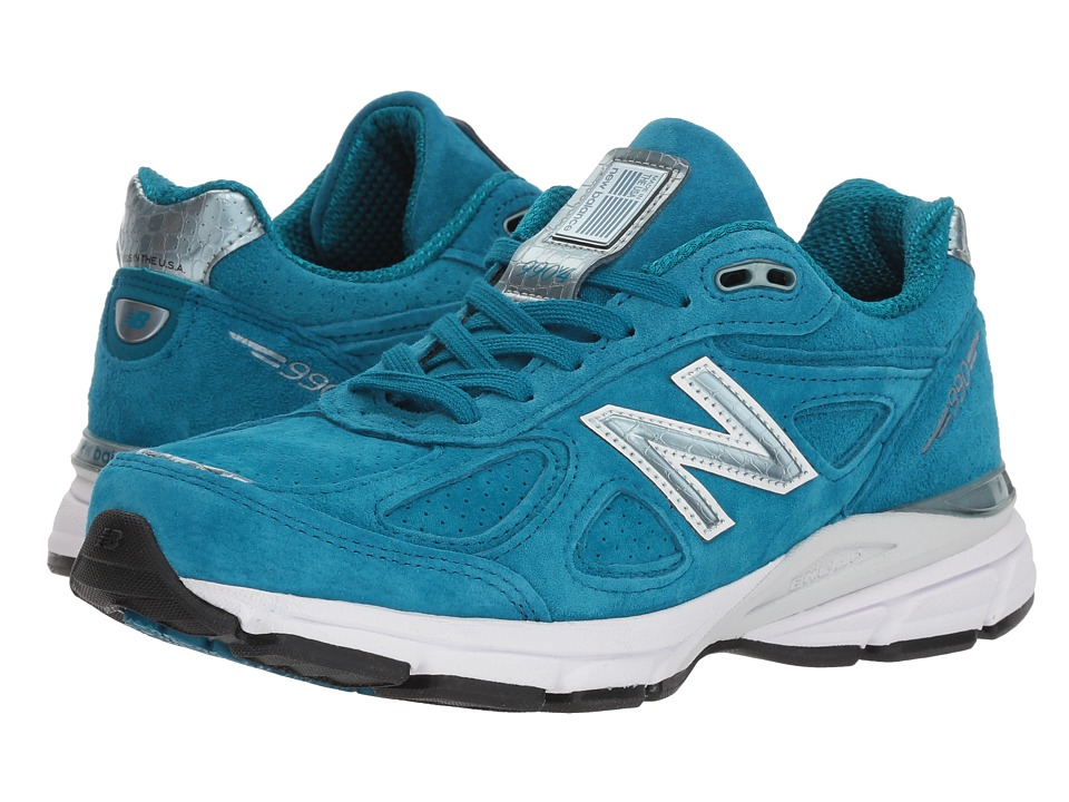 New Balance - W990v4 (Lake Blue/Lake Blue) Womens Running Shoes