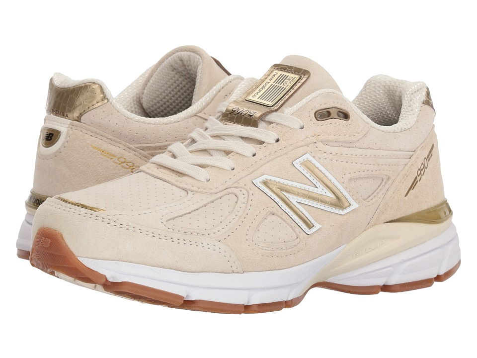 New Balance W990v4 (Angora/Angora) Women's Running Shoes
