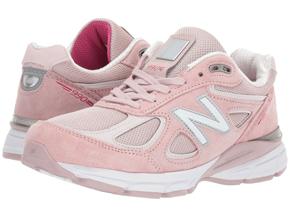 New Balance W990v4 (Faded Rose/Komen Pink) Women's Running Shoes