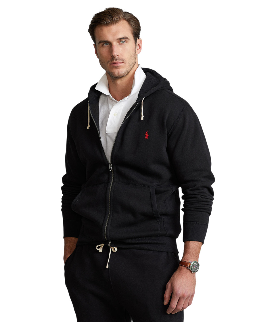 Ralph Lauren Big Tall Classic Fleece Full-Zip Hoodie (Pol...