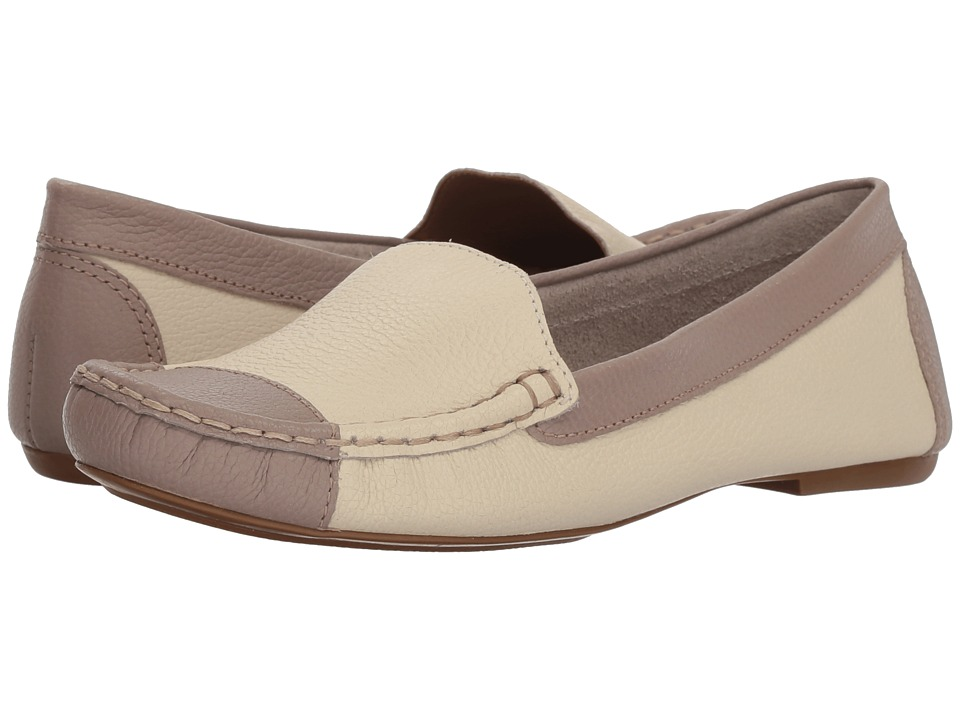 French Sole Allure (Bone/Taupe Pebble Leather) Women's Shoes