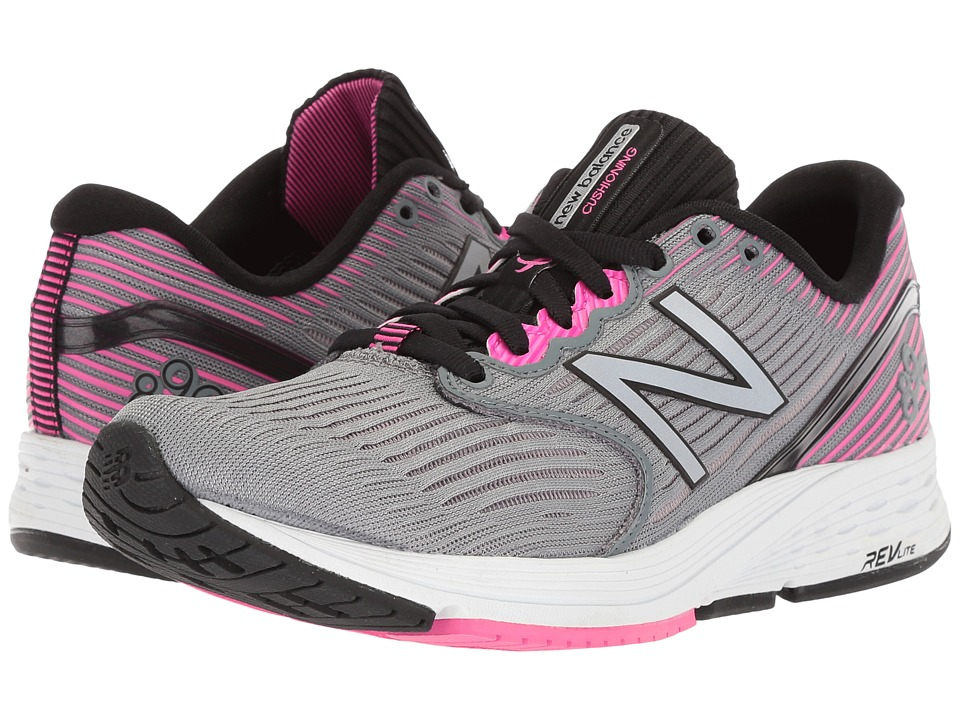 New Balance 890v6 (Gunmetal/Pink Glo) Women's Running Shoes