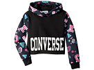 Converse Kids Printed Cropped Pullover (Big Kids)