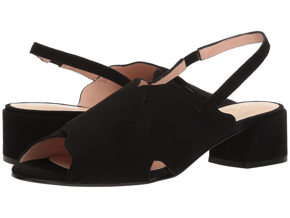 French Sole Bid 2 (Black Suede) Slingbacks