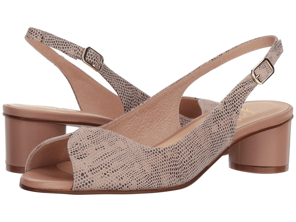 French Sole - Borderline (Nude Snake Print) Womens Shoes
