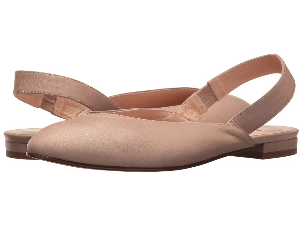 French Sole - Breezy (Nude Softy Calf) Womens Sling Back Shoes
