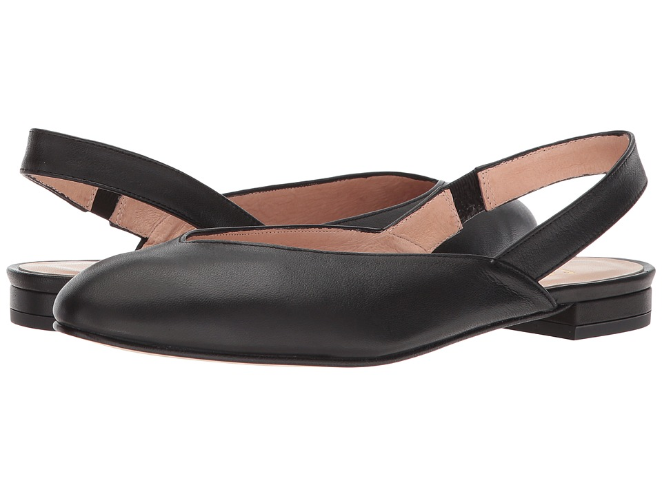 French Sole Breezy (Black Softy Calf) Slingbacks