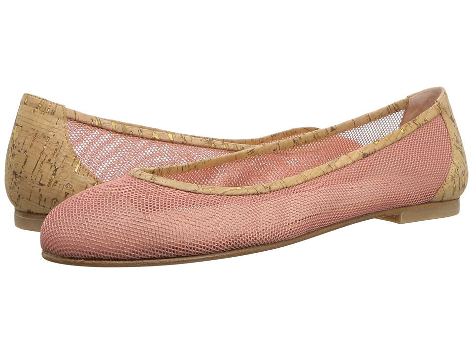 French Sole - Bravo (Rose Gold Mesh Cork) Womens Flat Shoes