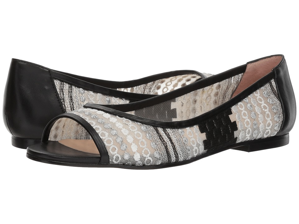 French Sole Noir (White/Black Anubi Mesh) Flats