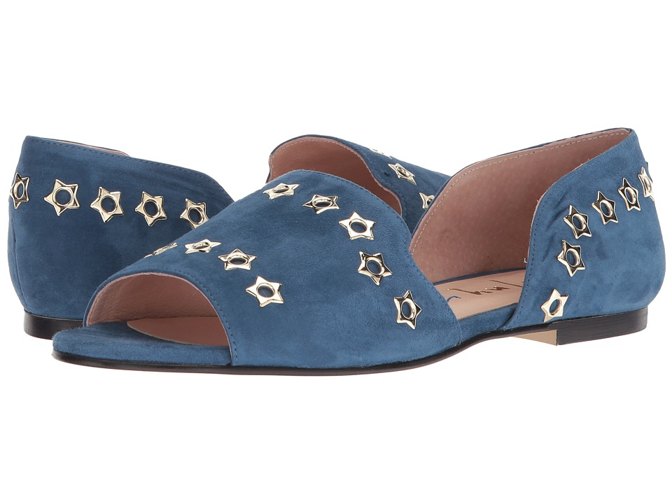 French Sole - Whistle 2 (Zafiro Blue Suede) Womens Shoes