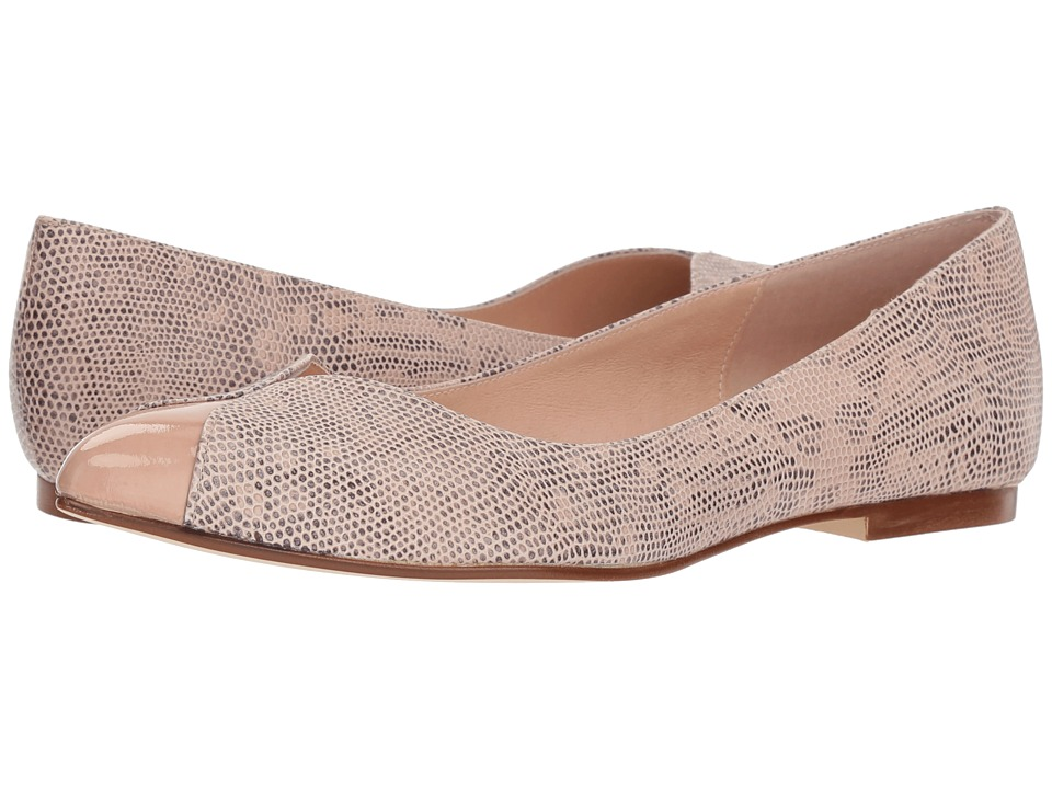 French Sole Zigzag (Nude Snake Print) Women's Shoes