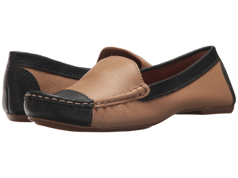 French Sole Allure (Beige/Black Pebble Leather) Women's Shoes