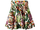 Oscar de la Renta Childrenswear Mikado Jungle Monkeys New Skirt (Toddler/Little Kids/Big Kids)