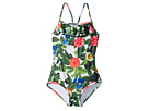 Oscar de la Renta Childrenswear Flower Jungle Ruffle Swimsuit (Toddler/Little Kids/Big Kids)