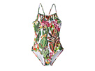 Oscar de la Renta Childrenswear Jungle Monkeys Ruffle Swimsuit (Toddler/Little Kids/Big Kids)