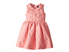 Oscar de la Renta Childrenswear Bubble Flower Jacquard Gathered Sleeve Dress (Toddler/Little Kids/Big Kids)