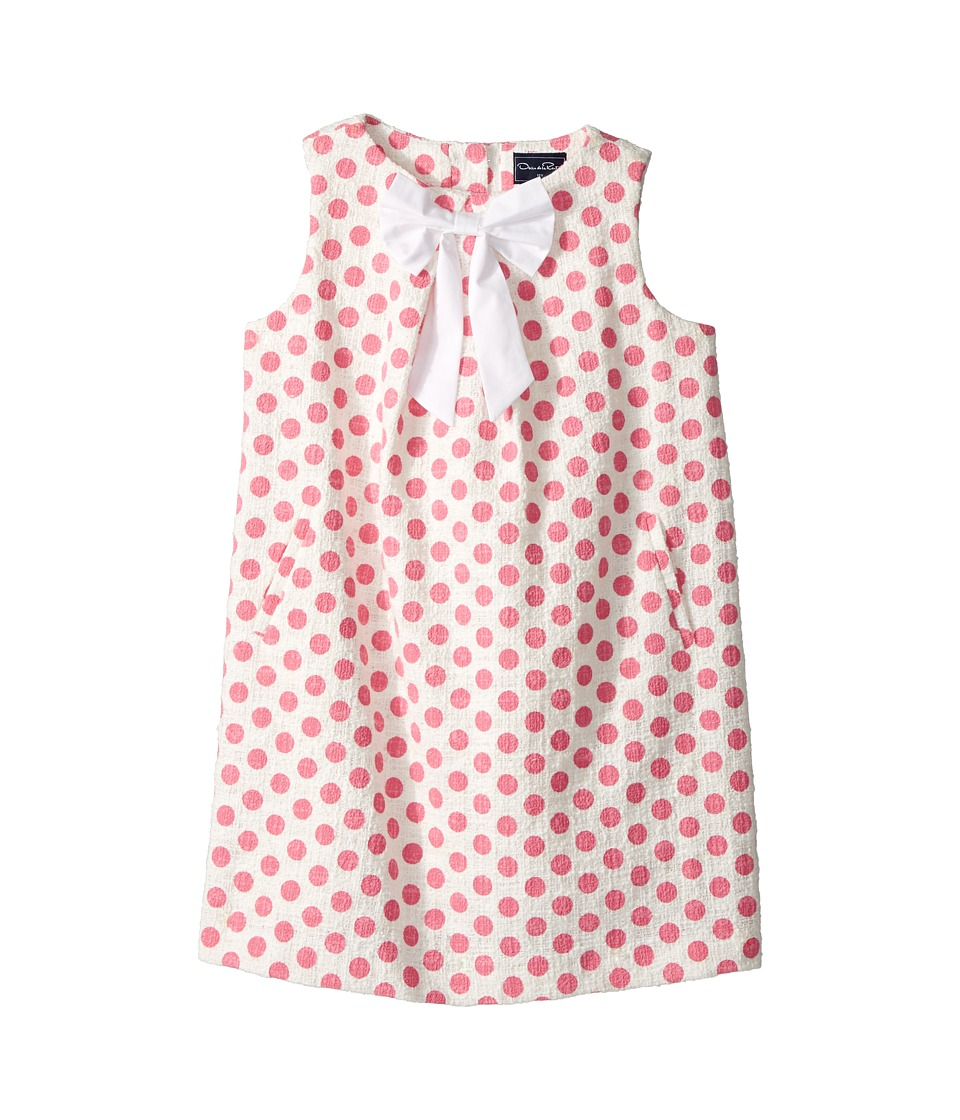Oscar de la Renta Childrenswear - Dots On Tweed Pleat Bow Dress