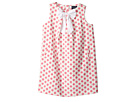 Oscar de la Renta Childrenswear Dots On Tweed Pleat Bow Dress (Toddler/Little Kids/Big Kids)