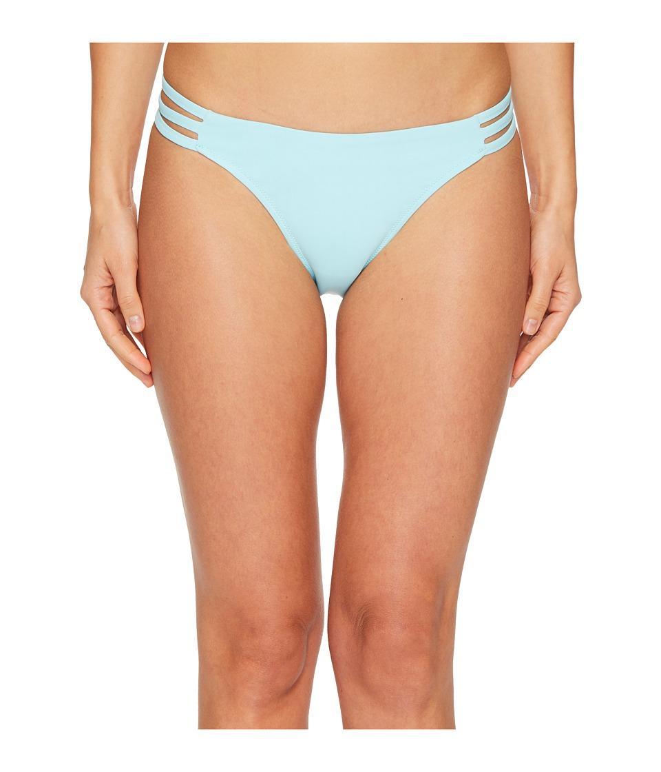 Letarte Printed Medium Coverage Lattice Side Bottoms (Aquamarine) Women