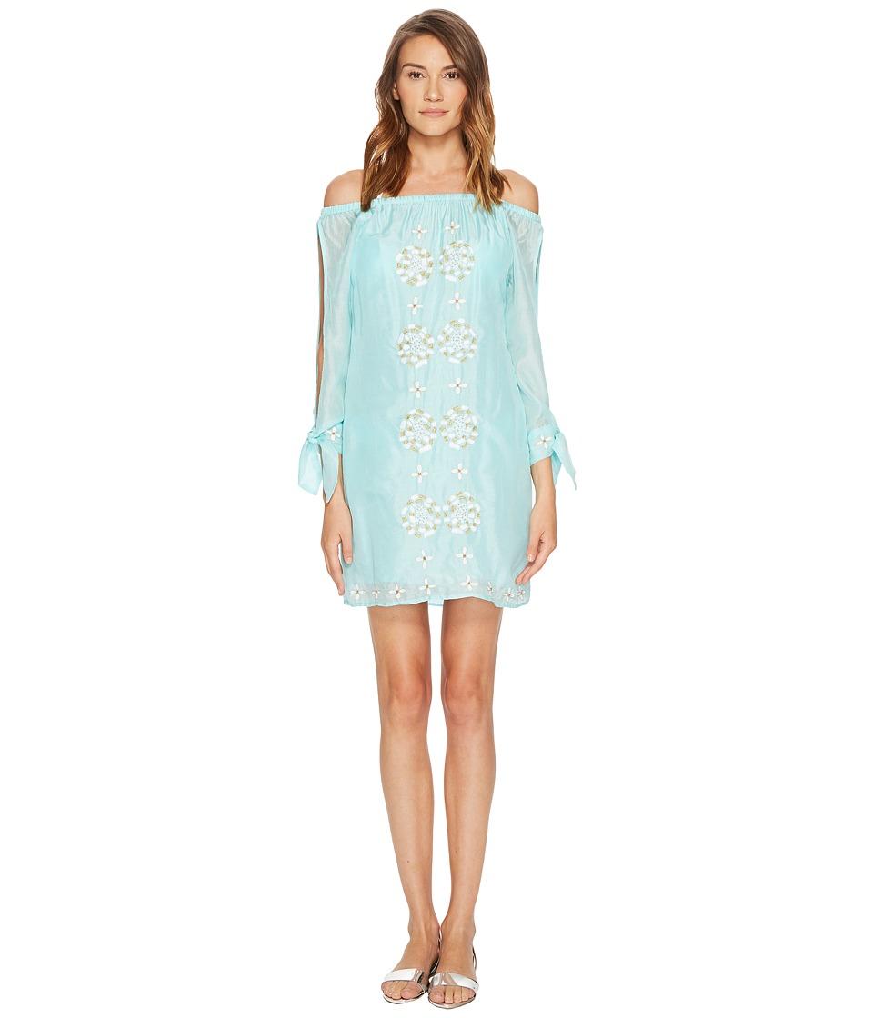 Letarte - Embroidered Off the Shoulder Dress Cover