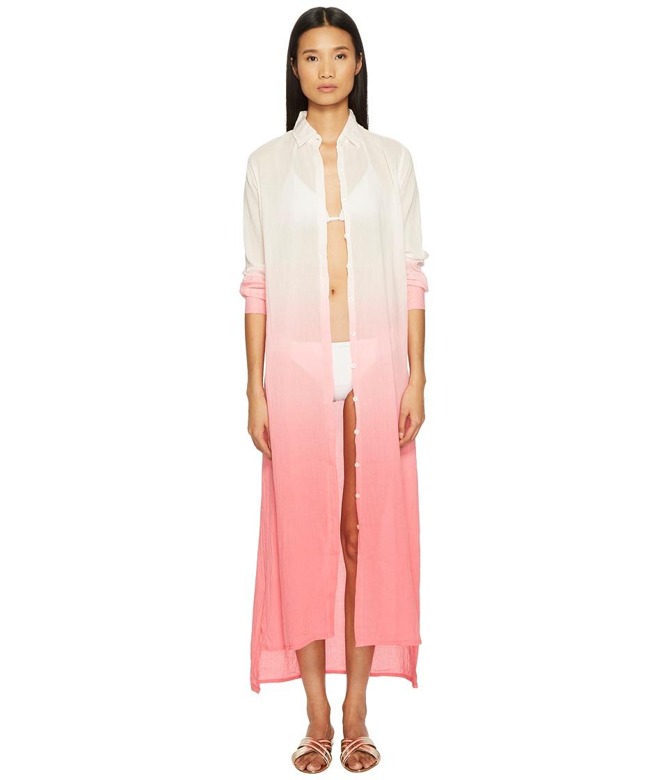 Letarte Long Ombre Beachshirt (Pink Multi) Women