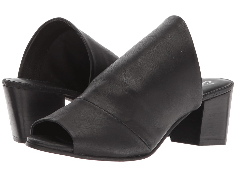 Charles by Charles David - Yanna Slide Sandal (Black Leather) High Heels