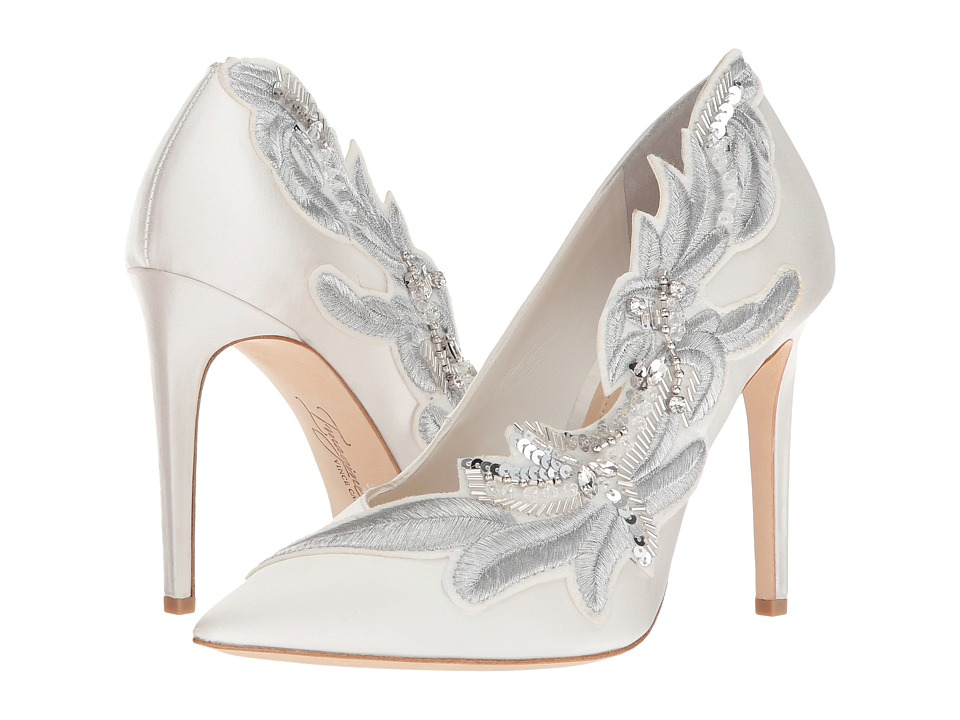 Imagine Vince Camuto - Leight (Pure White Deluxe Satin) High Heels