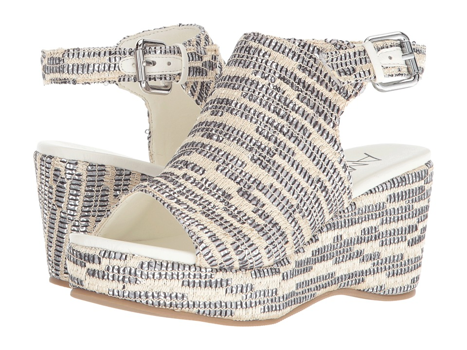 Amiana 15-A5441 (Little Kid/Big Kid/Adult) (Silver Raffia Sequins) Girl