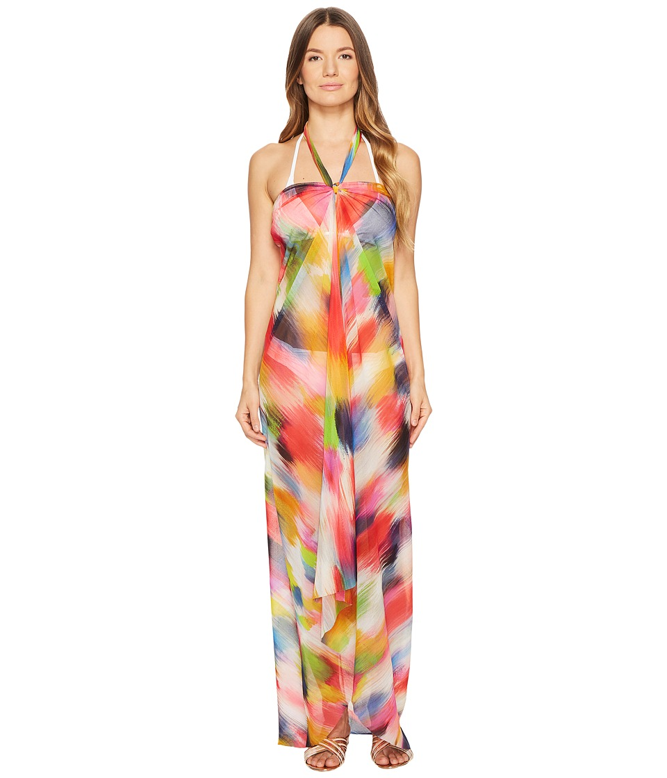 FUZZI Dress Cover-Up Painterly Rainbow (Multicolor)