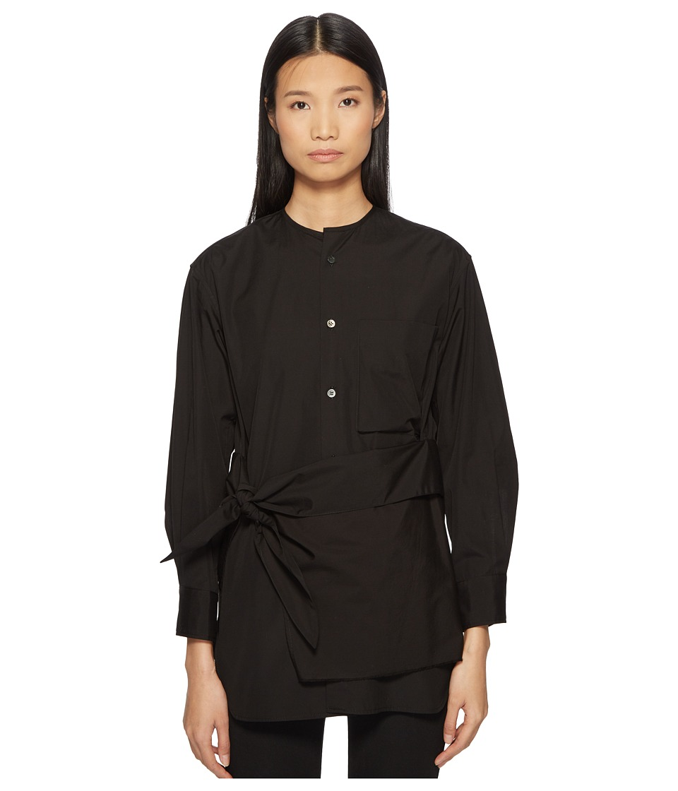 Y's by Yohji Yamamoto - K-Collarless Tie Front Button Up ...